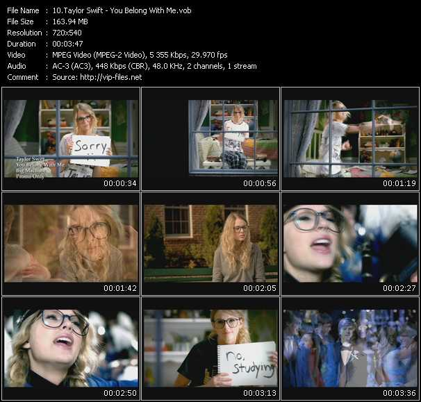 video You Belong With Me screen