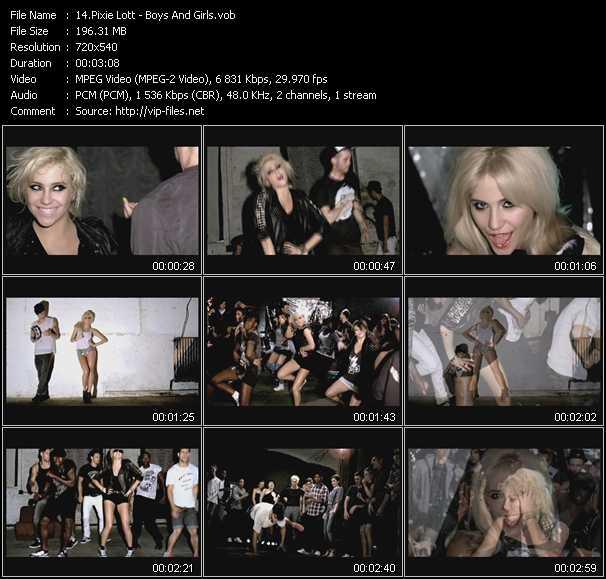 Pixie Lott video screenshot
