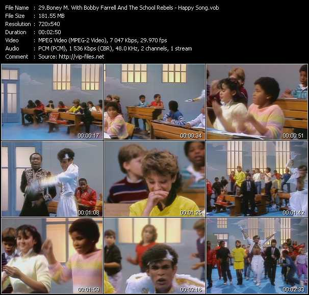 Boney M. With Bobby Farrell And The School Rebels video screenshot