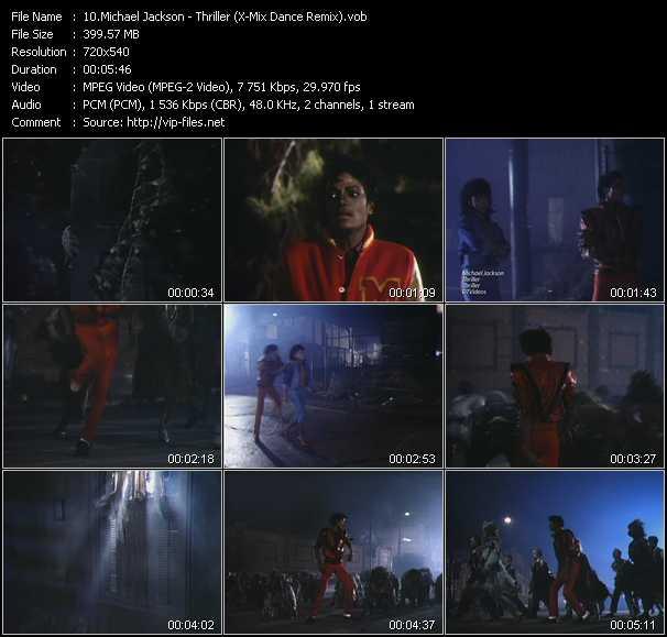 video Thriller (X-Mix Dance Remix) screen