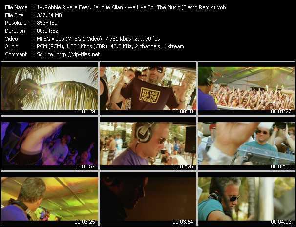 Robbie Rivera Feat. Jerique Allan video screenshot