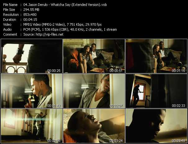 video Whatcha Say (Extended Version) screen