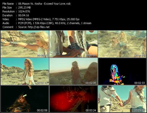 Mason Vs. Kesha video screenshot