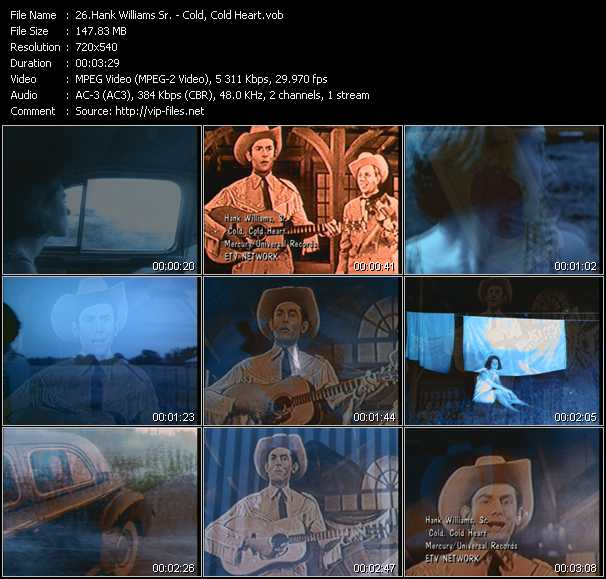 Hank Williams Sr. video screenshot