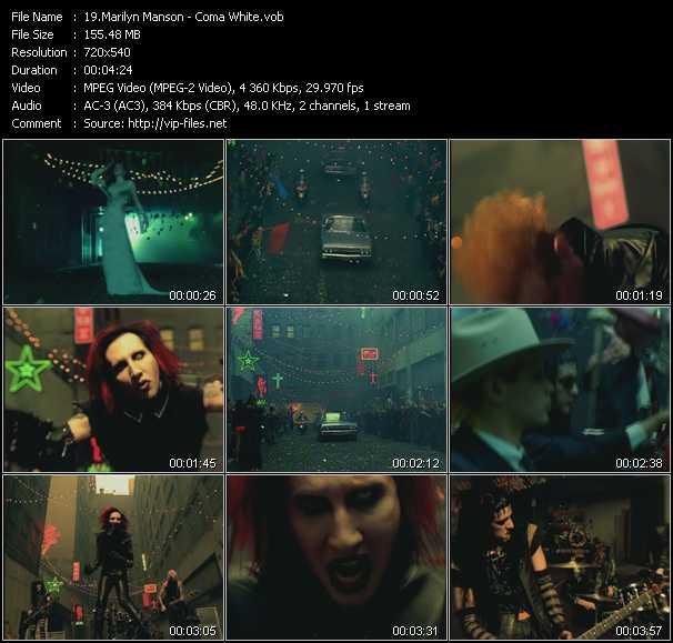 Marilyn Manson video screenshot