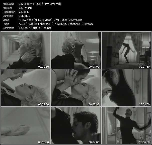 video Justify My Love screen