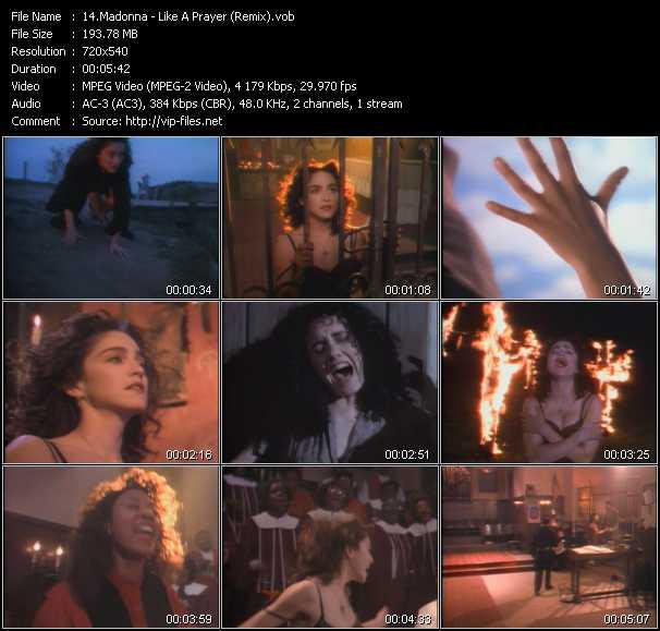 video Like A Prayer (Remix) screen