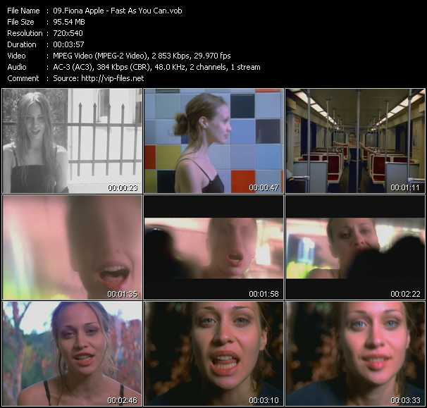 Fiona Apple video screenshot