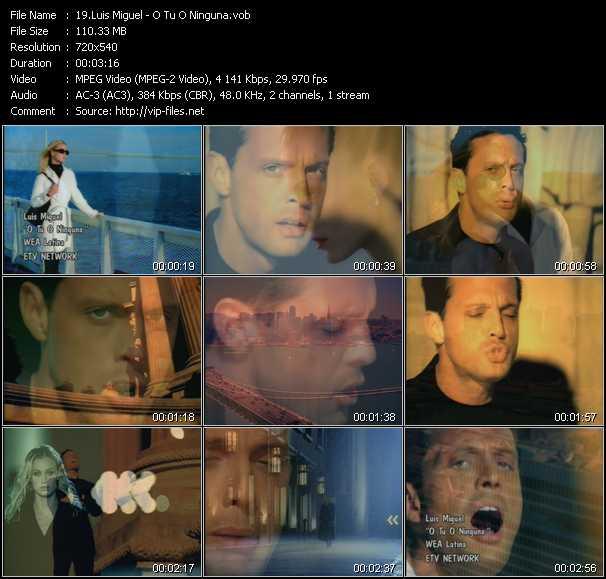 Luis Miguel video screenshot