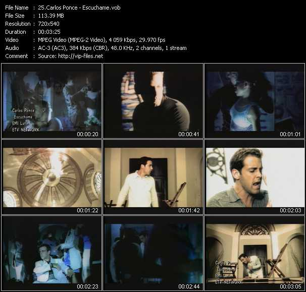 Carlos Ponce video screenshot