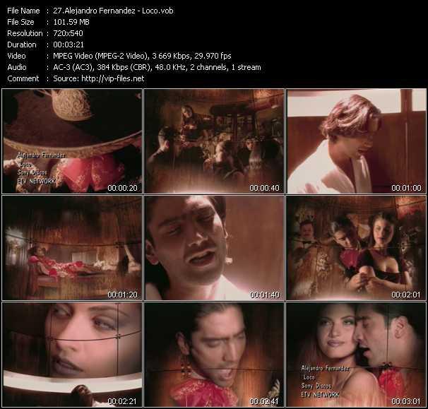 Alejandro Fernandez video screenshot
