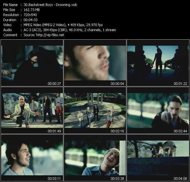 Backstreet Boys video screenshot