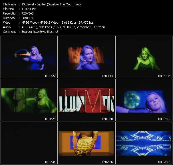 video Jupiter (Swallow The Moon) screen