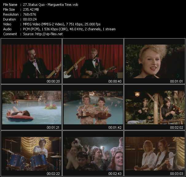 video Marguerita Time screen
