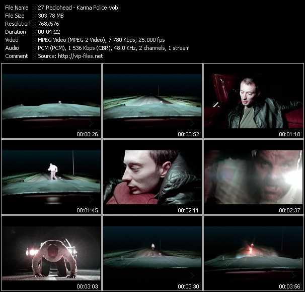 Radiohead video screenshot