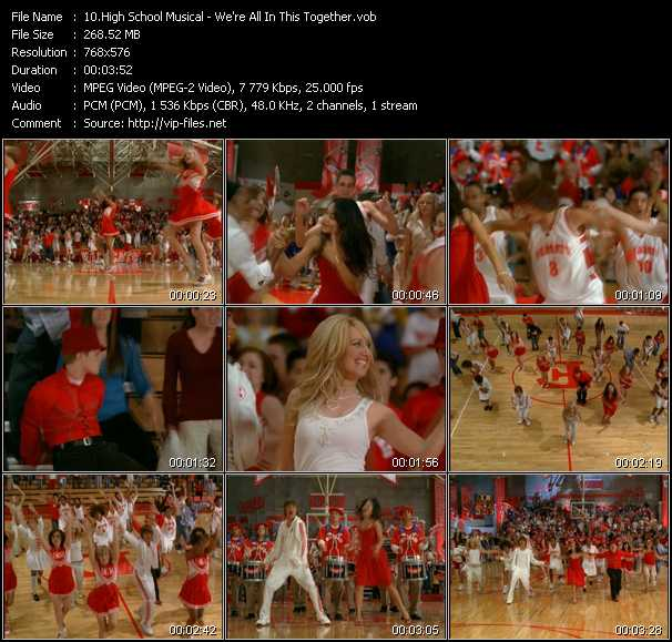 High School Musical video screenshot