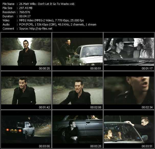 Matt Willis video screenshot