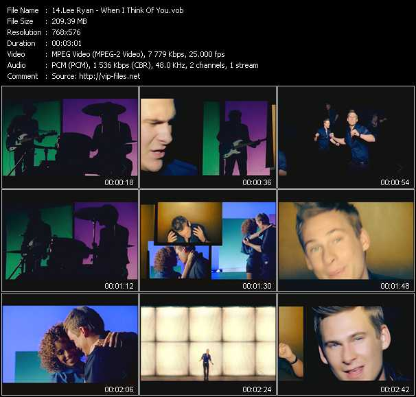 Lee Ryan video screenshot