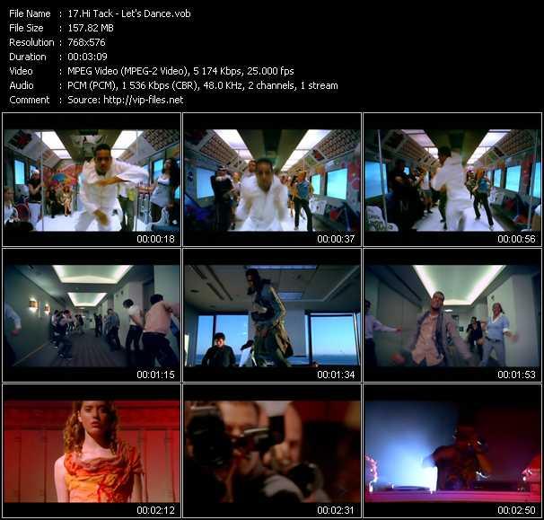 video Let's Dance screen