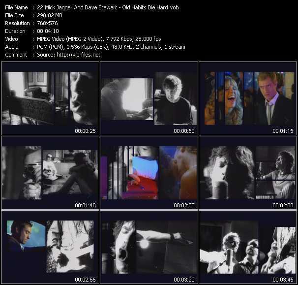 Mick Jagger And Dave Stewart video screenshot