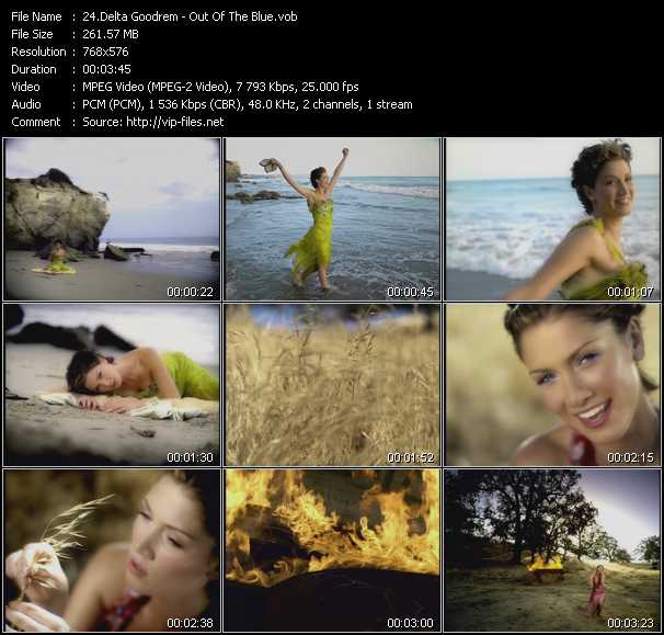Delta Goodrem video screenshot