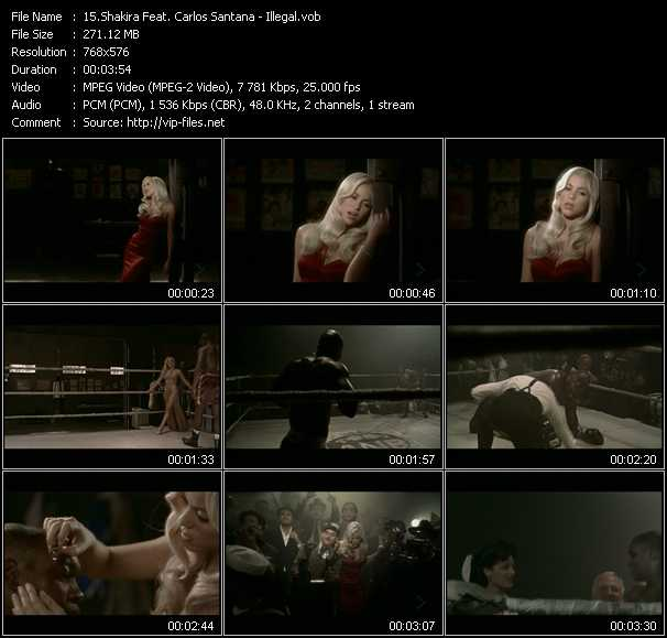 Shakira Feat. Carlos Santana video screenshot