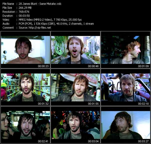 James Blunt video screenshot