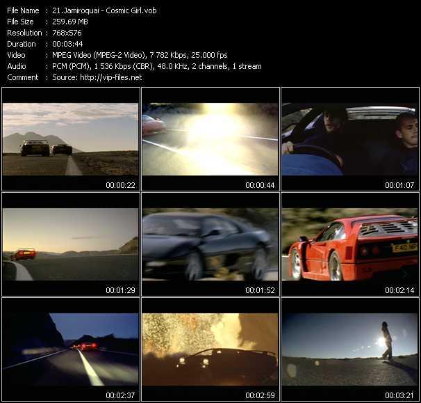 video Cosmic Girl screen