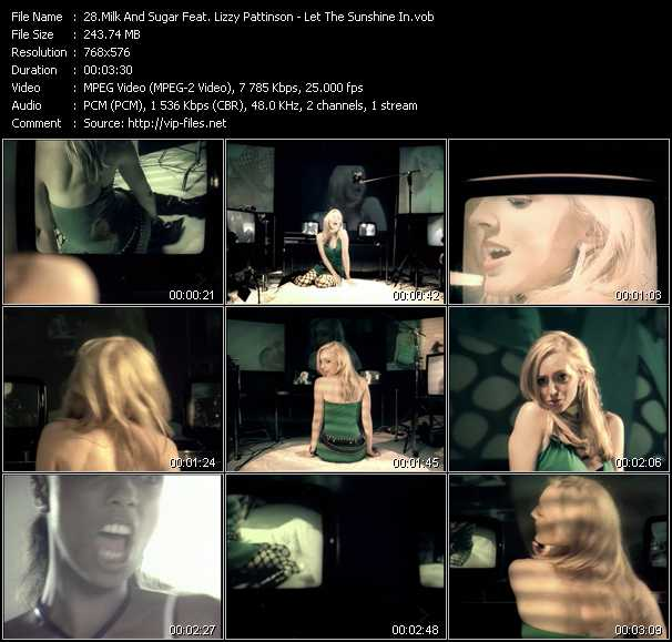 Milk And Sugar Feat. Lizzy Pattinson video screenshot