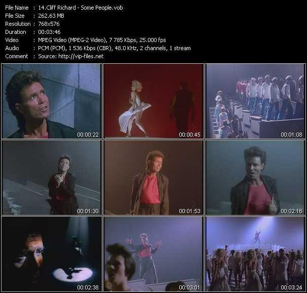 Cliff Richard video screenshot