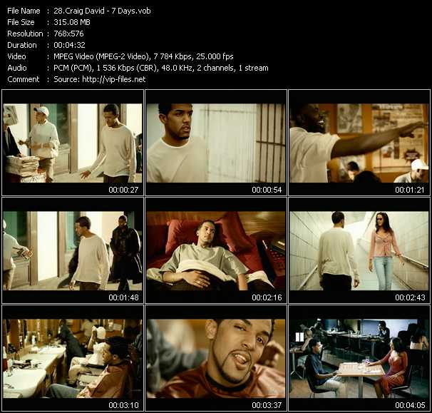 video 7 Days screen