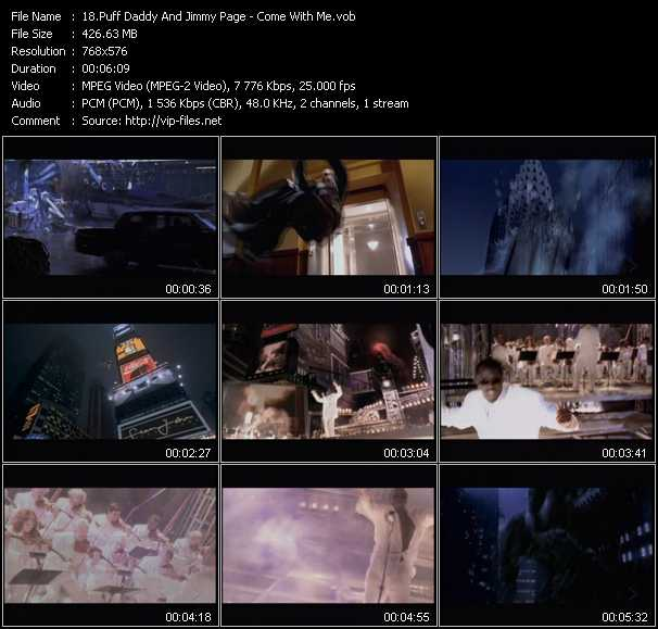 Puff Daddy (P. Diddy) And Jimmy Page video screenshot