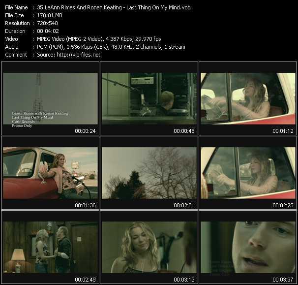 LeAnn Rimes And Ronan Keating video screenshot