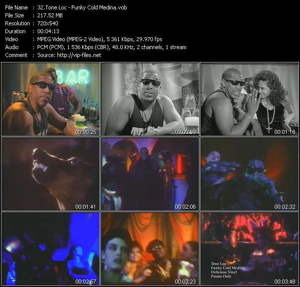 video Funky Cold Medina screen