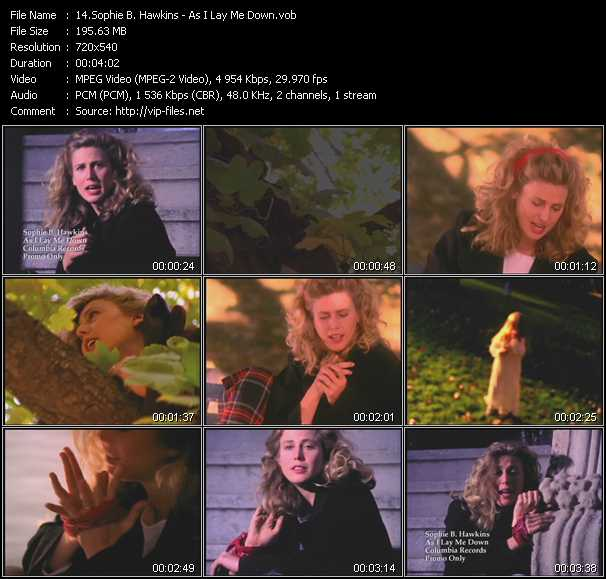 Sophie B. Hawkins video screenshot