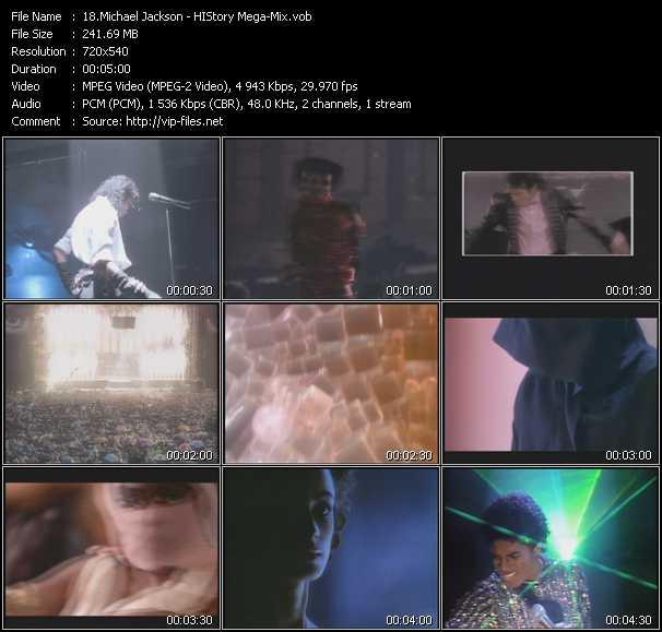 video HIStory Mega-Mix screen