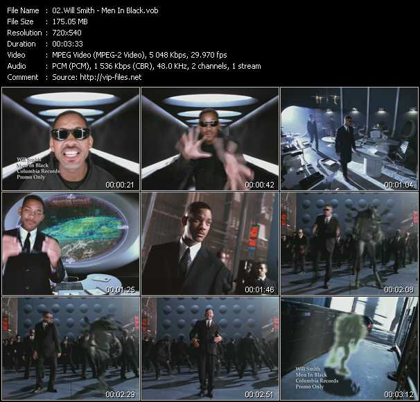 video Men In Black screen