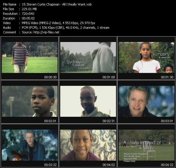 Steven Curtis Chapman video screenshot