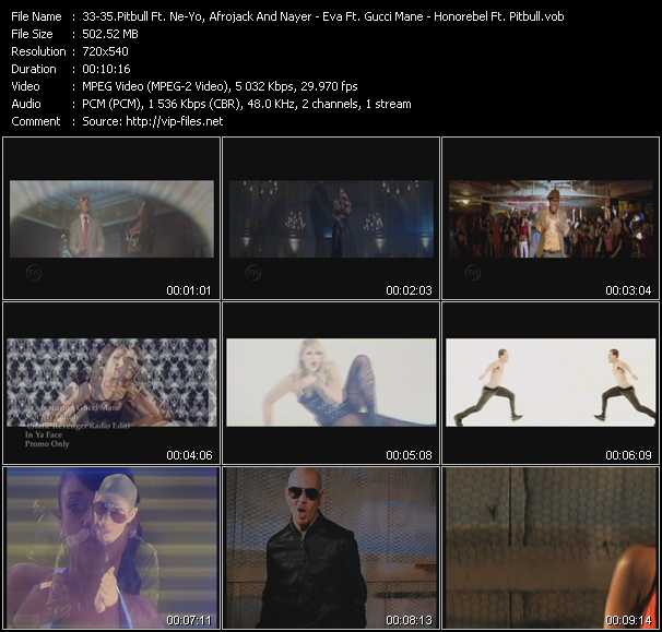 Pitbull Feat. Ne-Yo, Afrojack And Nayer - Eva Feat. Gucci Mane - Honorebel Feat. Pitbull video screenshot