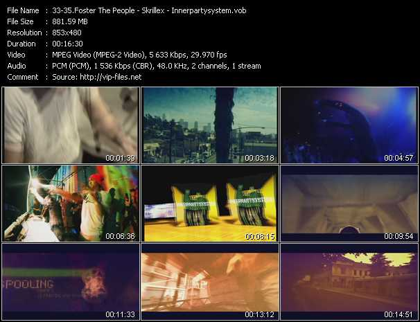 Foster The People - Skrillex - Innerpartysystem video screenshot