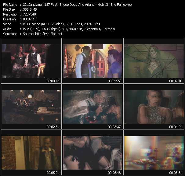 Candyman 187 Feat. Snoop Dogg And Ariano video screenshot