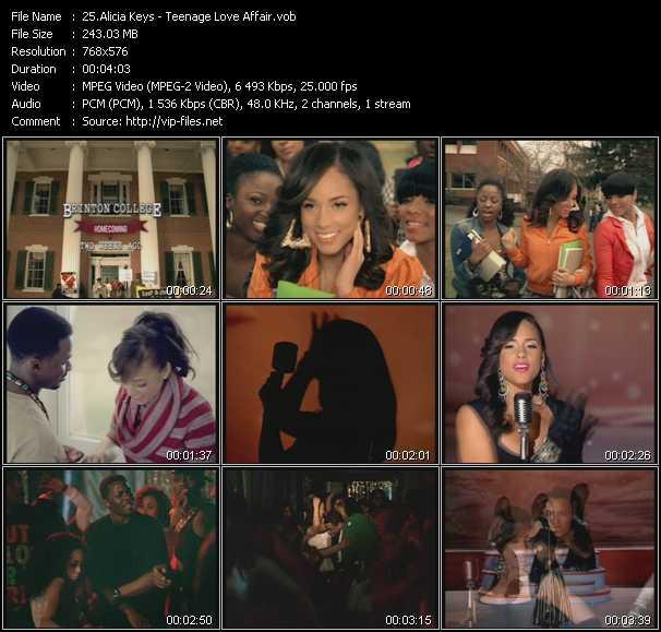 Alicia Keys video screenshot