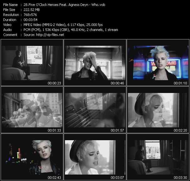 Five O'Clock Heroes Feat. Agness Deyn video screenshot