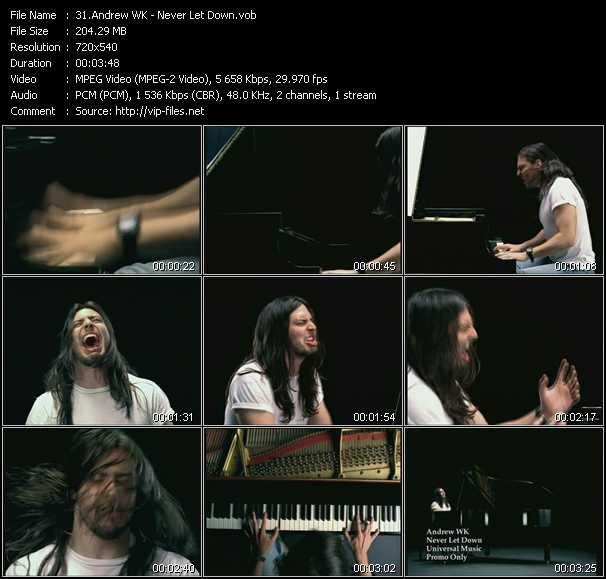 Andrew W.K. video screenshot
