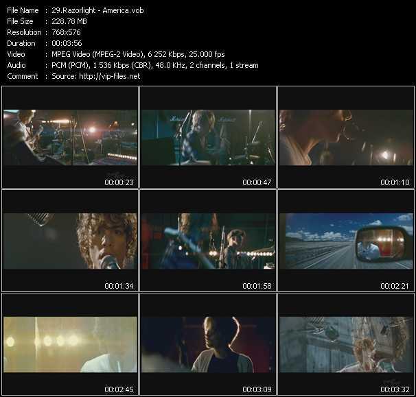 Razorlight video screenshot