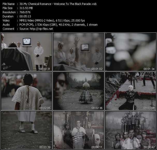 My Chemical Romance video screenshot