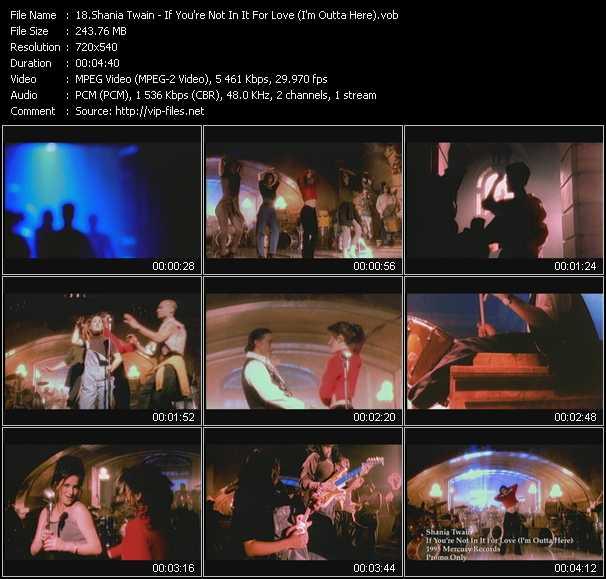 Shania Twain video screenshot