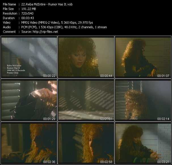Reba McEntire video screenshot