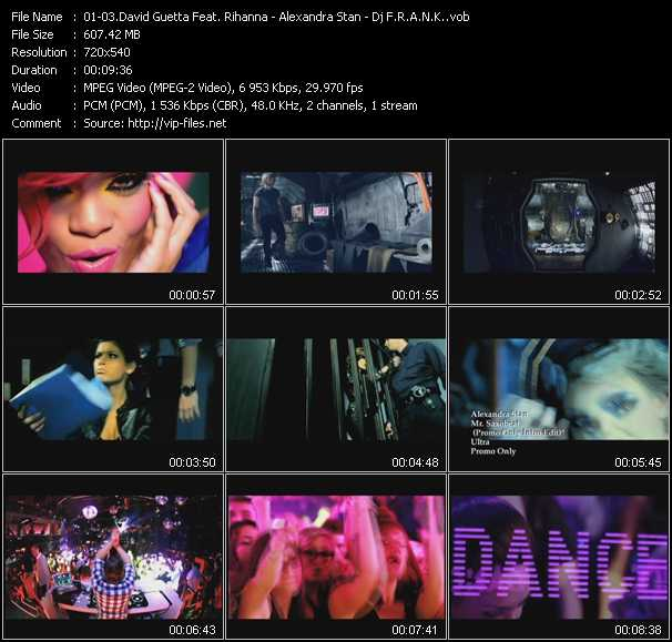 David Guetta Feat. Rihanna - Alexandra Stan - Dj F.R.A.N.K. video screenshot