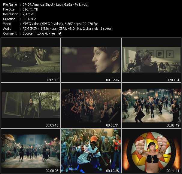 Amanda Ghost - Lady GaGa - Pink video screenshot